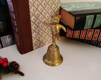 Brass Panda Bell, Brass Dinner Bell, Brass Bell, Brass Bell