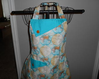 Old World Map Women's Apron