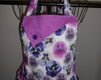 Purple Pansies Women's Apron