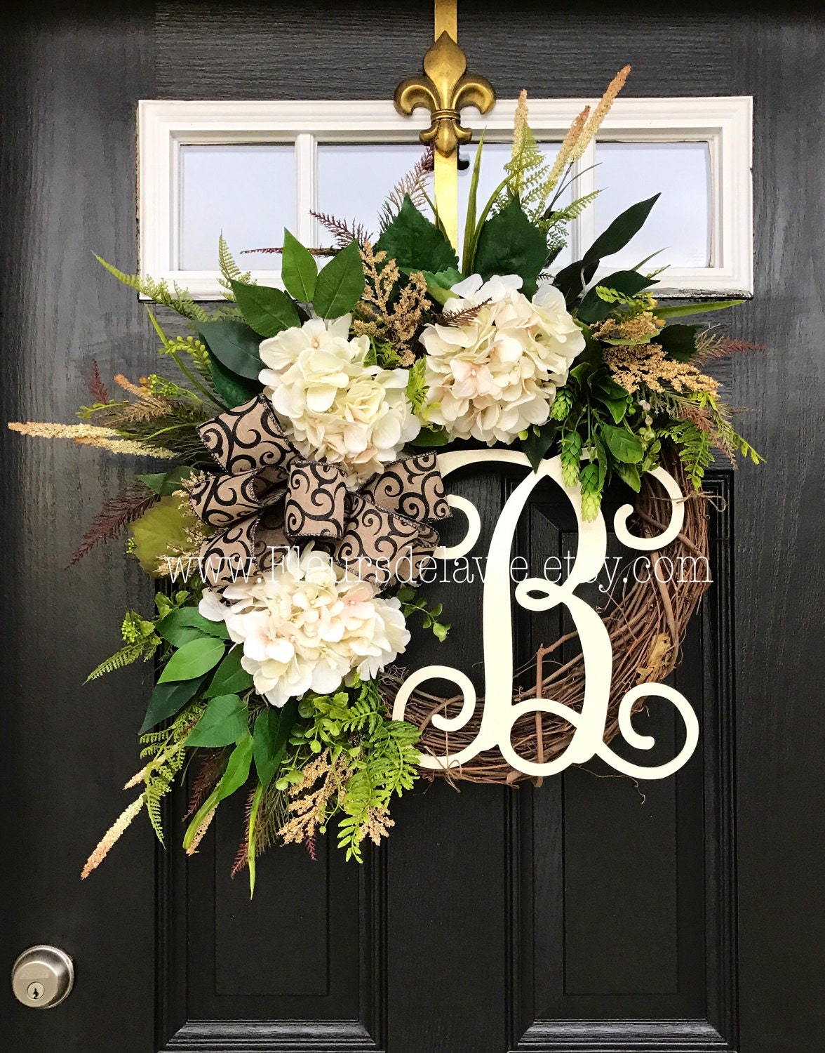 Best seller wreaths for front door front door by fleursdelavie for Modern front door decor