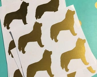 Gold Foil Dog Breed Stickers, gold foil, gold, gold sticker, envelope seal, dog breed sticker, dog, dog lover
