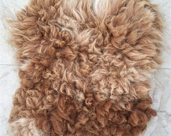 Pillow felted alpaca fleece fur pillow Blazing Ben B