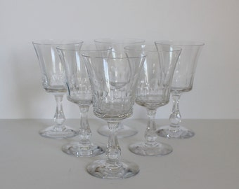 Vintage Fostoria Glass Georgian Claret Glasses Set of Six