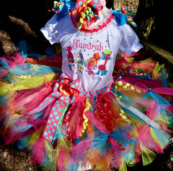 Multicolored Dreamworks Trolls Dress Up Tutu