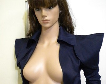 Optional bolero dark blue silk