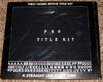 PRO Home Movie Title Kit