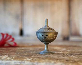 Vintage Brass Incense Burner
