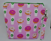 PREORDER:  Coffee & Donuts Small Zippered Bag