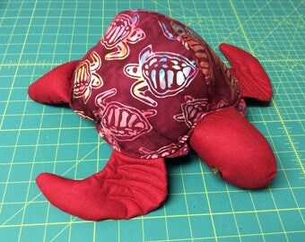 Hawaii Honu, turtle, batik fabric pillow