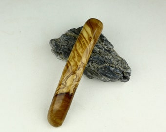 Wood Hair Barrette - Italian Olive Wood - Hair Accessory - Made in France clip