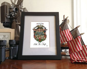 US NAVY CHIEF  5x7 Giclée Print unframed