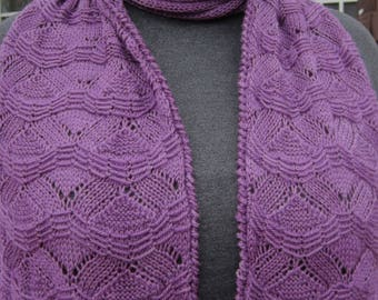 Knit Scarf Pattern:  Easy Matsu Turtleneck Scarf Knitting Pattern