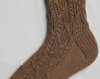 Knit Sock Pattern:  Nara Cabled Socks Knitting Pattern