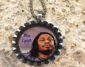 Shop Closing 50% OFF Mrs. Lynch Marshawn Lynch Seattle Seahawk Bottle Cap Necklace- Proceeds Benefit Cancer Research