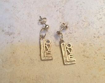 Love Sterling Silver Earrings