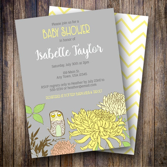 Vintage Owl Baby Shower Invitations: Vintage Owl Baby Shower Invitation, Owl Baby Shower Invite