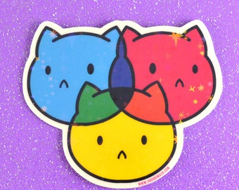 CMYKitty - Holographic Starry Sticker
