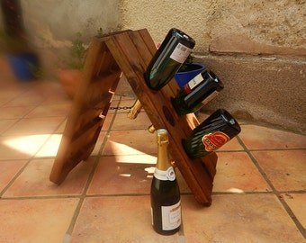 French Vintage Champagne Bottle Turning Rack Wine Rack