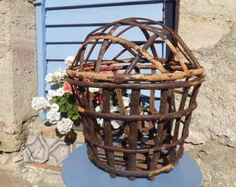 French Vintage Lettuce Gathering Basket A Handmade Gathering Basket