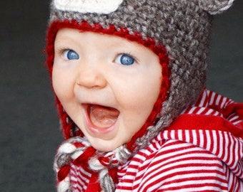 Toddler Sock Monkey Hat