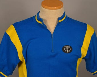 VTG Avocet Cycling Jersey Sweater 70s 80s Shirt XS short sleved 1/4 zip pullover