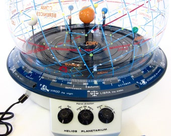 Vintage Motorized Orrery Helios Planetarium/ Celestial Astronomy with Accessories