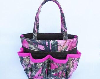 Camouflage Print Bingo Bag // Camouflage Bag // Craft Organizer // Makeup Organizer // Caddy // Teacher Tote // Nurse Tote