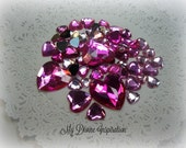 50 Flat Back Heart Rhinestones Acrylic Gems for Scrapbooking Cards Mini Albums and Papercrafts Jewelry DIY
