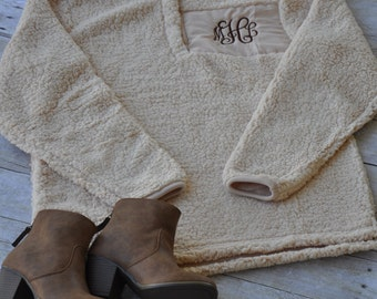 PRESALE --Monogram Sherpa Pullover -November shipping