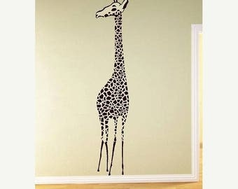 20% off Large Giraffe Vinyl Lettering  animal Decal wall words graphics Home decor bedroom  itswritteninvinyl