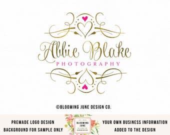 logo design photography logo gold foil logo heart logo premade logo photographers logo event planner logo wedding planner logo beauty logo