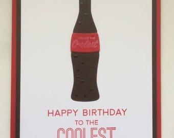 Coolest Pop Birthday card