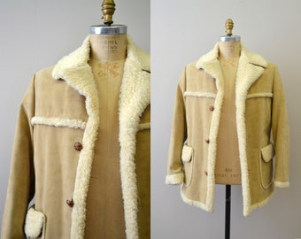 1970s Faux Suede and Shearling Coat