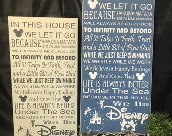 We Do Disney Sign, Disney Sign, Disney Quotes, Disney Subway Sign, We Let It Go, Hakuna Matata gift, Disney Collector, Disney Decor