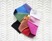 RAINBOW Cashmere Scarf / Patchwork Rainbow Scarf / Upcycled Cashmere Sweater Rainbow Spectrum Ecofriendly Slow Fashion Gift by WormeWoole