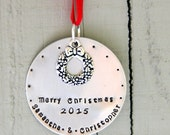 SALE Merry Christmas Ornament -  Housewarming Gift Ornament - Boyfriend Christmas Ornament - 1 st Christmas Together - Housewarming Gift
