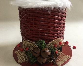 Christmas Centerpiece / Snowman Hat / Christmas Basket / Holiday Centerpiece