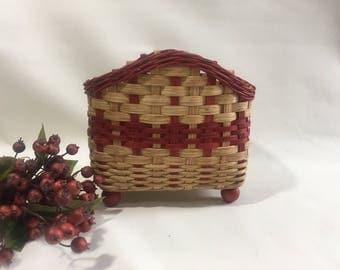 Napkin Basket / Handwoven Basket / Table Top Basket / Storage Basket