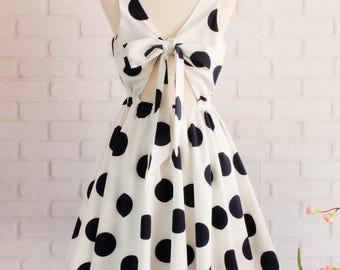 White dress polka dot dress white party dress navy dot dress white bridesmaid dresses white prom dress white sundress dot sundress