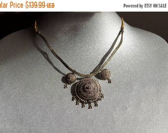 Spring SALE Yemeni Silver Tribal Necklace