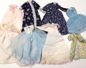 Vintage Barbie Clothes, Large Lot of Barbie Dresses, Skirts, Pants, Coats and More.  All from the late 1960s, early 1970s