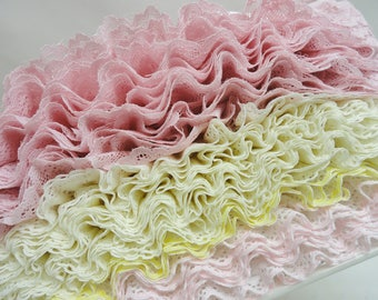 """Lace, 26 Yards of 1"""" Sewing Lace, Millinery Lace, Pastel Lace"""