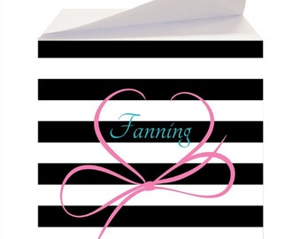Personalized Sticky Note Cubes - Custom Notepad - Monogram Stationery - To Do List - Teacher Gift - Desk Accessory