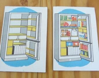 Refrigerator Magnet/Maynard's Mousetrap/1960's Phonic Cards/Vintage Fridge/Opposite Phonics cards/ Westinghouse /Vintage Education/Magnets