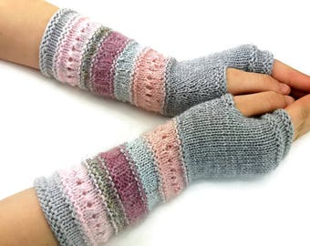 Fingerless gloves - Arm warmers - Womens Fingerless - Long Fingerless Mittens - Wrist warmers - Hand warmers |