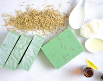 Rosemary Tea Tree Eucalyptus Soap; Hot Process Soap; Homemade Soap; Soap For Him; Soap for Men; Stocking Stuffer; Soap Gift; Tea Tree Soap