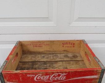 Vintage Coca Cola Soda Pop Crate.