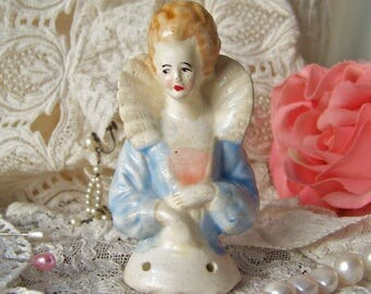Vintage Half Doll Pincushion Doll Boudoir Doll Vanity Doll Dresser Display Porcelain Doll 1930s