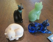 4 Franklin Mint Curio Cat Collection