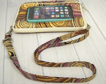Smartphone Purse • Cell Phone Pocket • Shells • Keep in Touch Mega Wallet (4b)